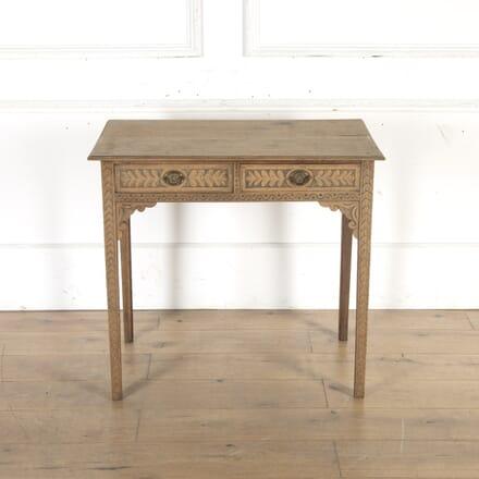 Georgian Washed Oak Side Table CO8515594