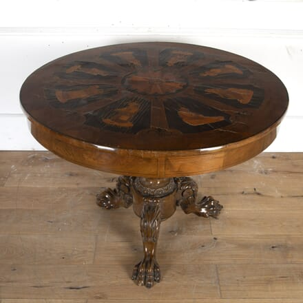 German Inlaid Mahogany Centre Table TC8914603