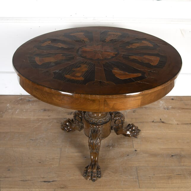 German Inlaid Mahogany Centre Table TC8914603