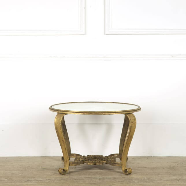 Gilded Wrought Iron Circular Low Table CT299348