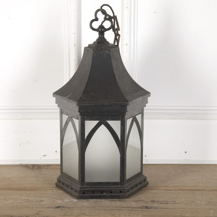 Gothic English Painted Tin Lantern LL3660168