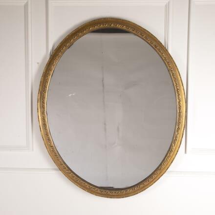 Grand Scale English 19th Century Oval Mirror MI0114754
