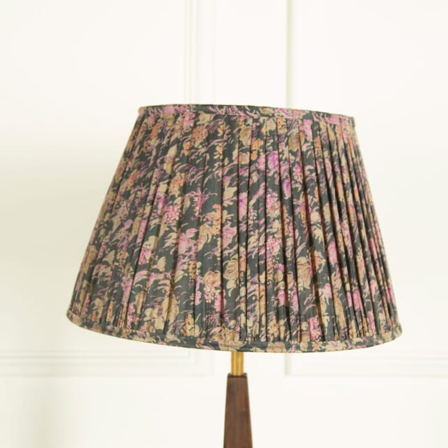 Grey with Pink Floral Silk Lampshades LS669032