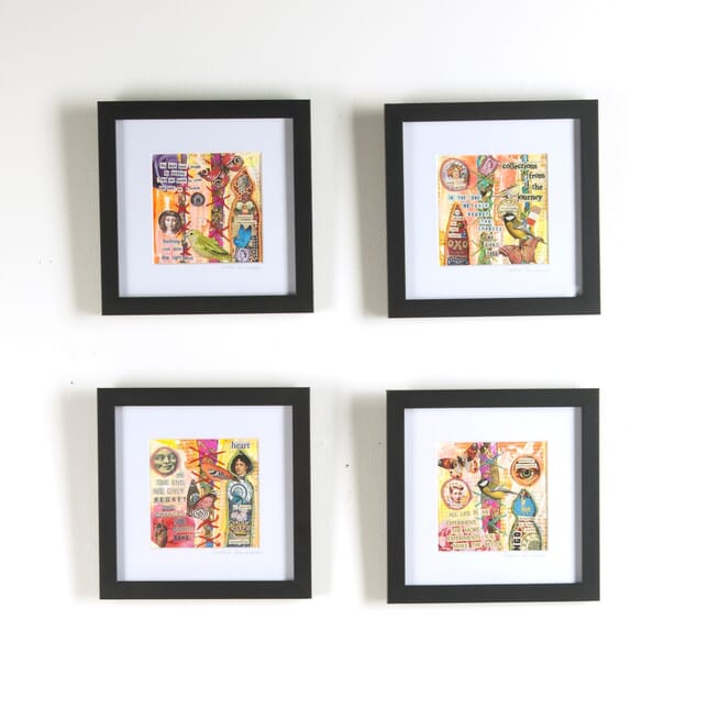 Group of Four Contemporary Collages WD3010390