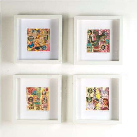 Group of Four Mixed Media Collages WD3010389