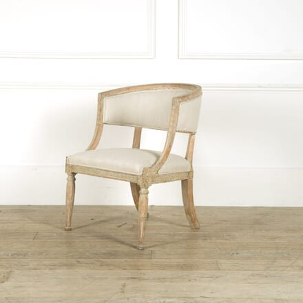 Gustavian Barrel Back Chair CH019216