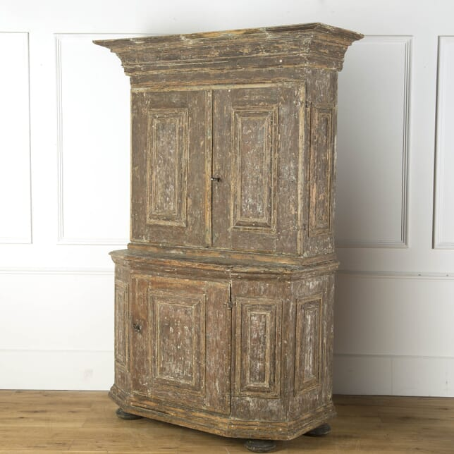 Gustavian Scraped Back Swedish Cupboard CU739174