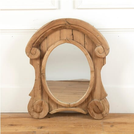 Hand Carved 18th Century Oeuil de Boeuf Mirror MI7110790