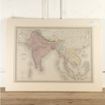 Hand-Coloured Copper Plate Map of India WD8016680
