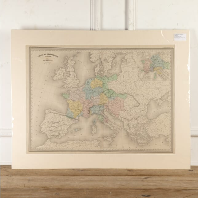 Hand-Coloured Map of the Charlemagne Empire WD8016677