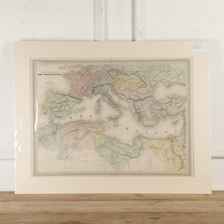 Hand-Coloured Copper Plate Map of the Mediterranean WD8016672