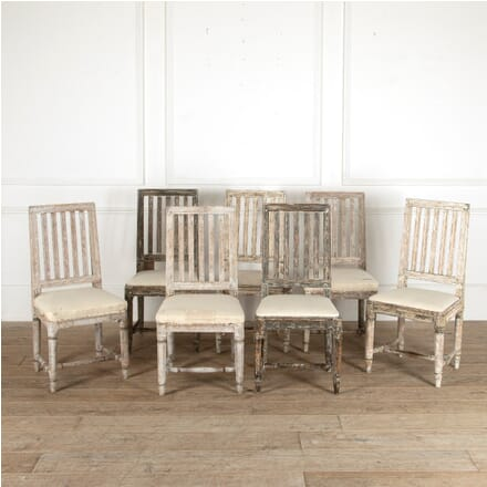 Harlequin Set of Six Swedish 18th Century Dining Chairs CD4411336