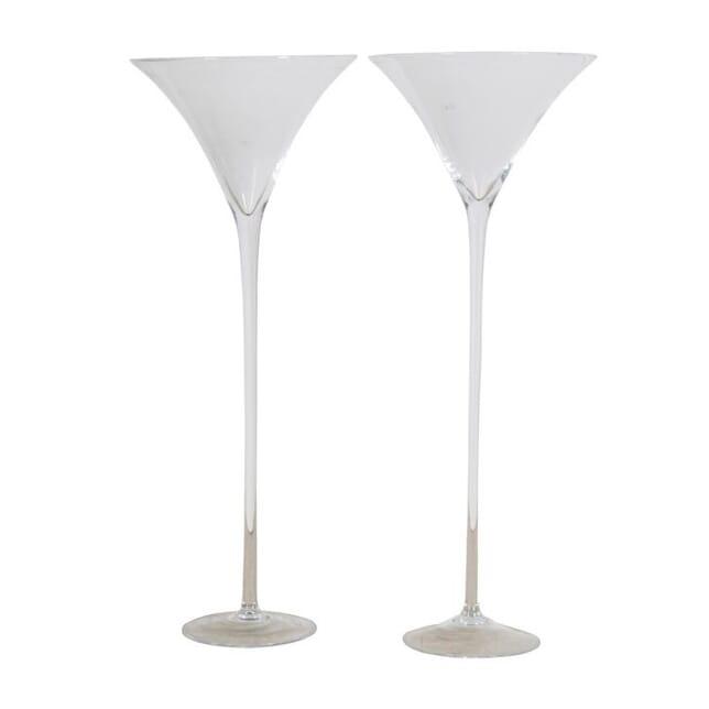 Pair of Huge Hand-Blown Glass 'Martini' Glasses DA0154799
