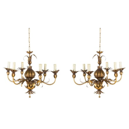 Pair of Hollywood Regency Style Chandeliers LC1559585