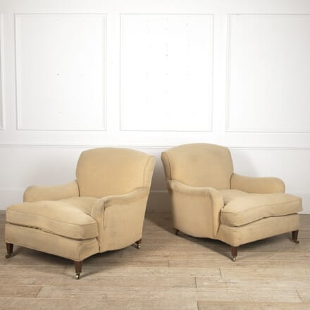 Large Pair of Howard & Sons 'Ivor' Armchairs CH7816061