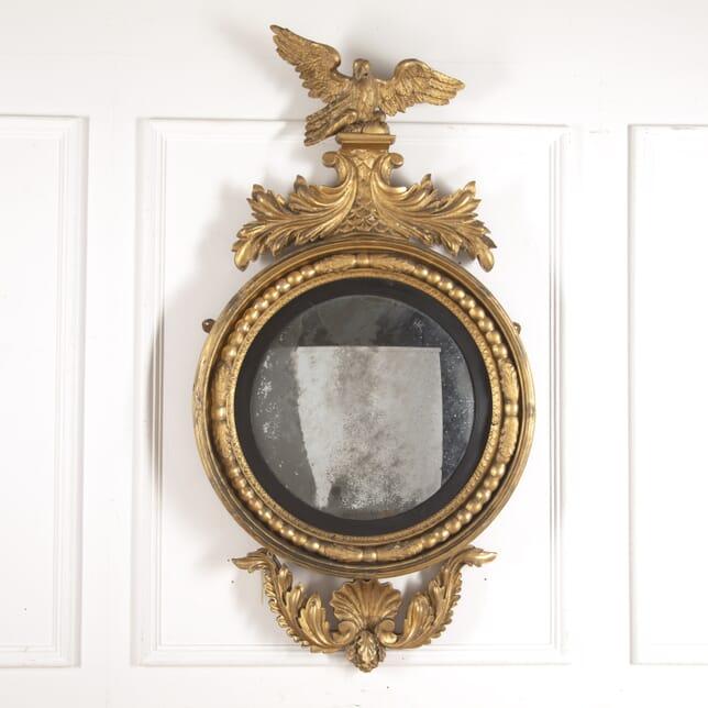 Huge Irish Regency Gilt Convex Mirror MI4116399