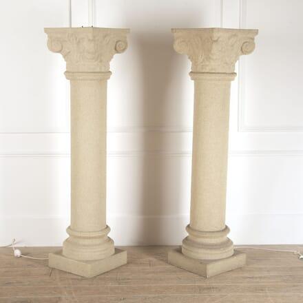Pair of Illuminated Column Lamps LF3014176