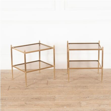 Pair of Brass End Tables CO3512650