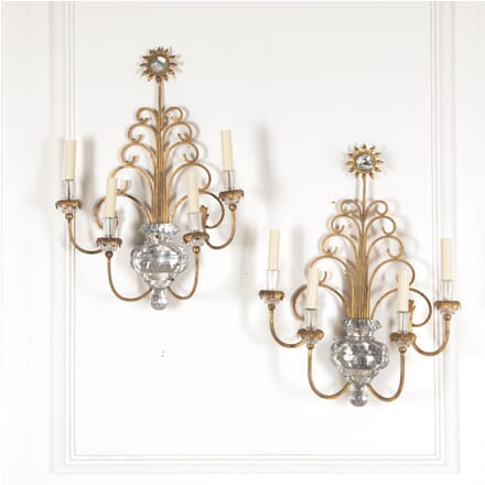 Pair of Four Arm Wall Sconces LW4812273