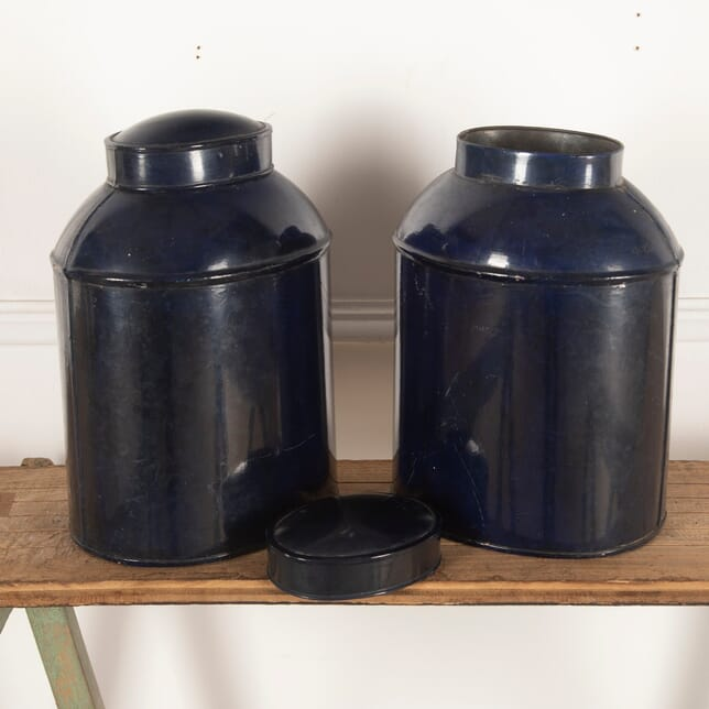 Pair of Metal Tea Tins DA2012503