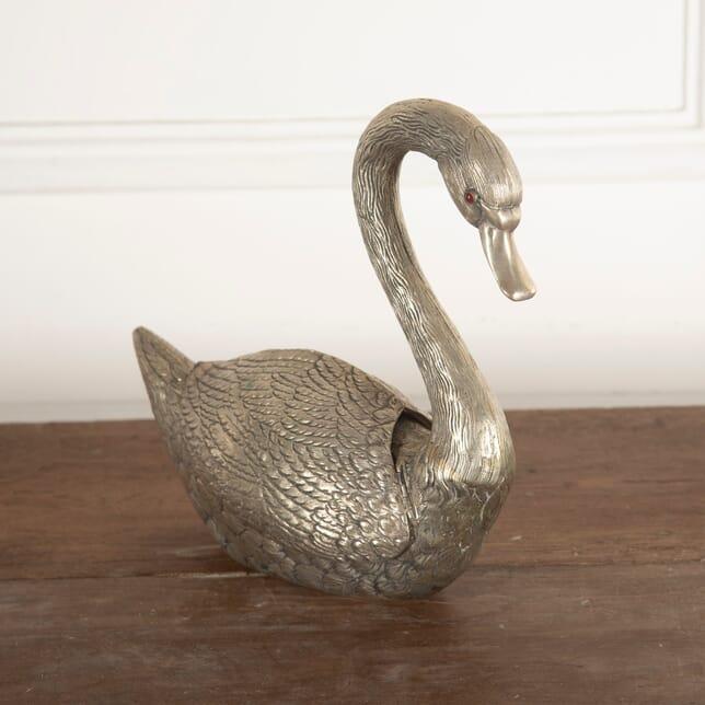 Silvered Metal Swan GA4812279