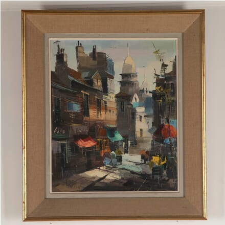 French Painting of a Street Scene WD4812757