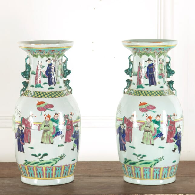 Pair of Cantonese Vases GA4812281