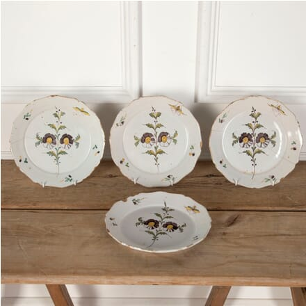 Four Late 18th Century Hand Painted Plates DA9012242