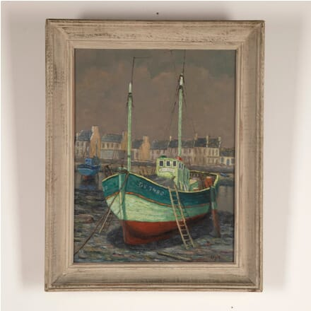 French Painting of a Fishing Boat WD4812726