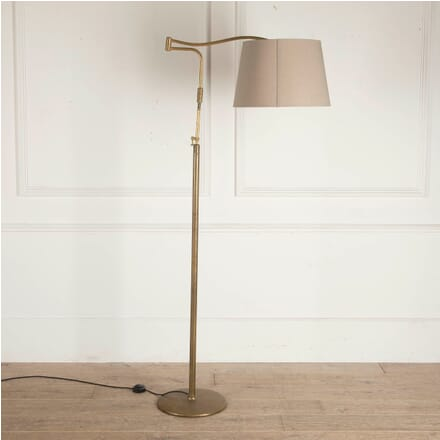 Italian Brass Floor Lamp with Cream Shade LF4812728