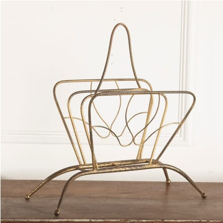 French Gilt Metal Magazine Rack OF4812286