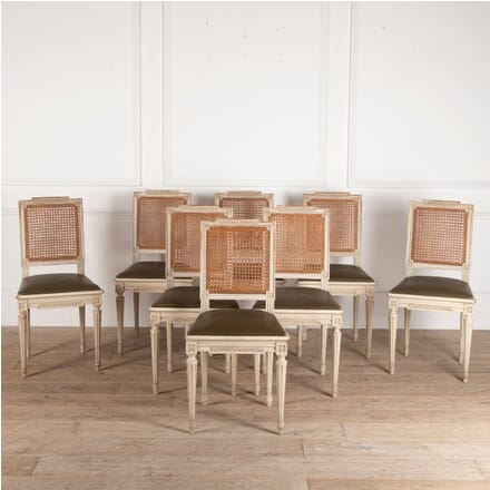 Set of Eight French Dining Chairs CD3512185