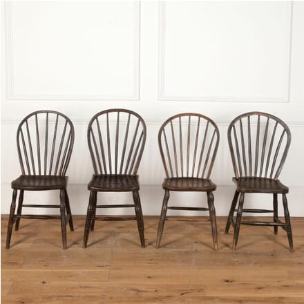 Four 19th Century West Country Hoop and Stick Back Chairs CD9012249