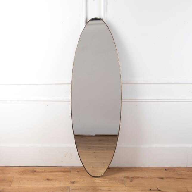 Italian Oval Brass Framed Mirror MI5712083