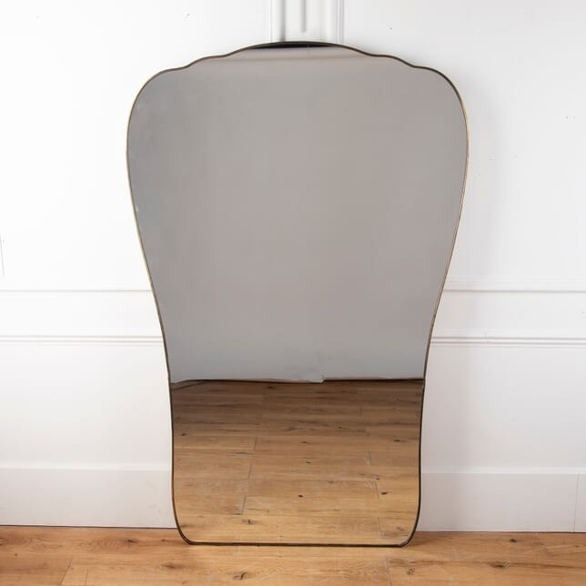 Large Mid 20th Century Italian Brass Mirror MI5712082