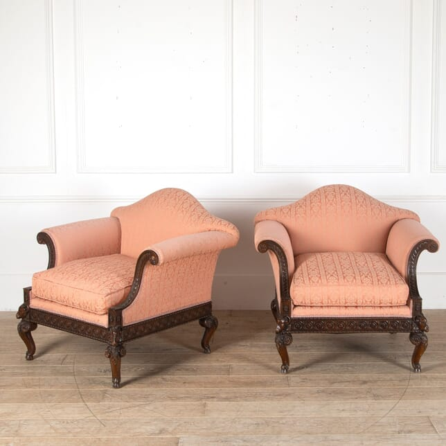 Pair of Edwardian Ram's Head Occasional Chairs CH8811144