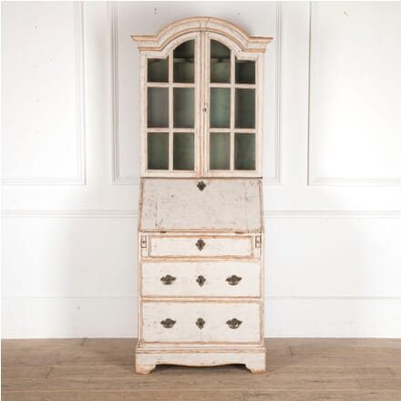 Small Swedish 18th Century Bureau Bookcase BK6012263