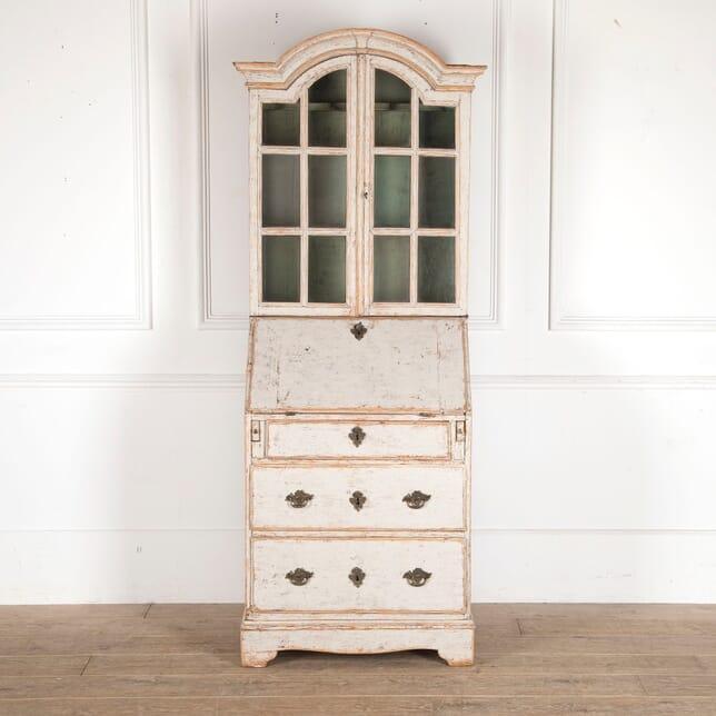Small Swedish 18th Century Bureau Bookcase BK6012263