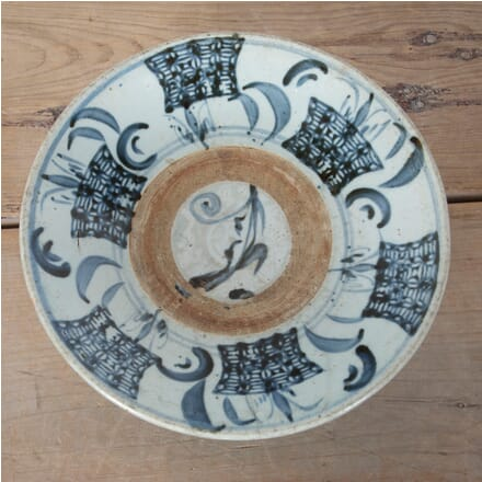 C17/18th Chinese Blue and White Dish DA9012419