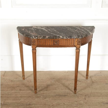 19th Century French Walnut Demi Lune Table CO8812576