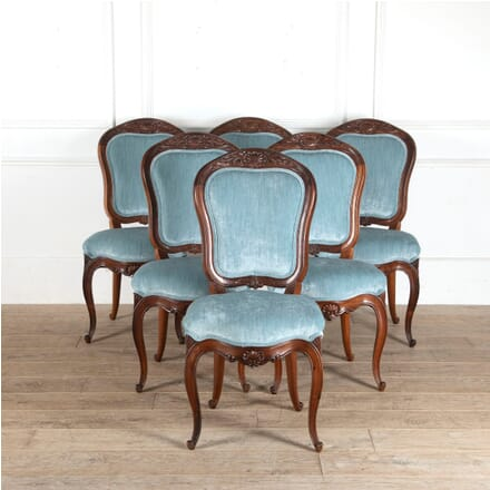 Set of Six English Rosewood Dining Chairs CD8811180