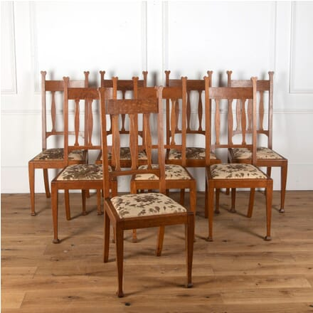 Set of Eight Arts & Crafts Dining Chairs by Hampton & Sons CD5813370