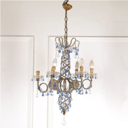 Italian Blue Glass Chandelier LC4812373