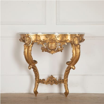19th Century French Gilt Wood and Ormolu Louis XV Style Console Table CO8812578