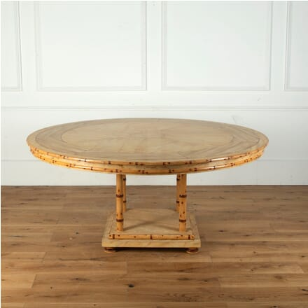 Large Faux Marble and Bamboo Centre Table TD5812931