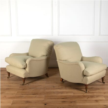 Pair of Howard Style Down-Filled Armchairs CH2712708