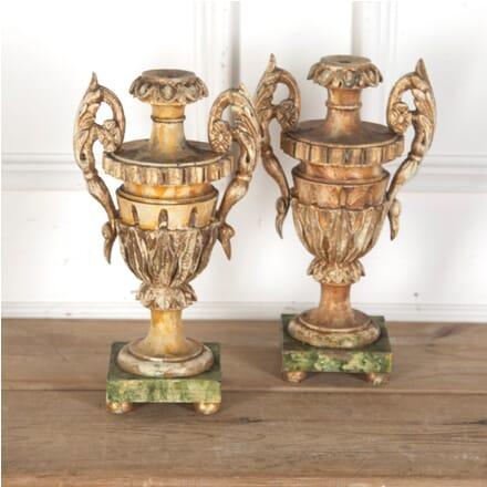 Pair of Italian Wooden Urns GA3512953