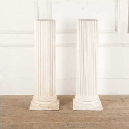 Pair of English Plaster Plinths GA3512949