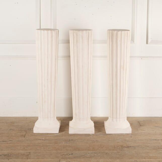 Set of Three English Plaster Plinths GA3513163