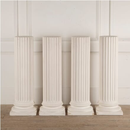 Set of Four English Plaster Plinths GA3512948